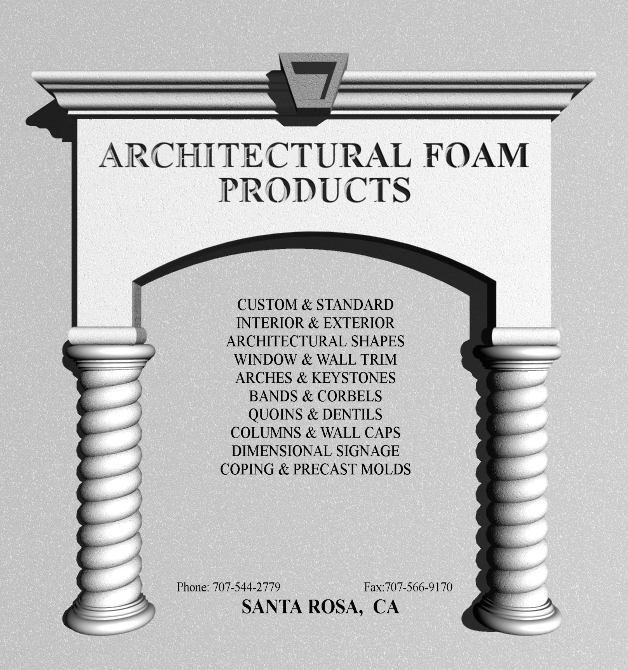 Architectural Foam Products Catalog